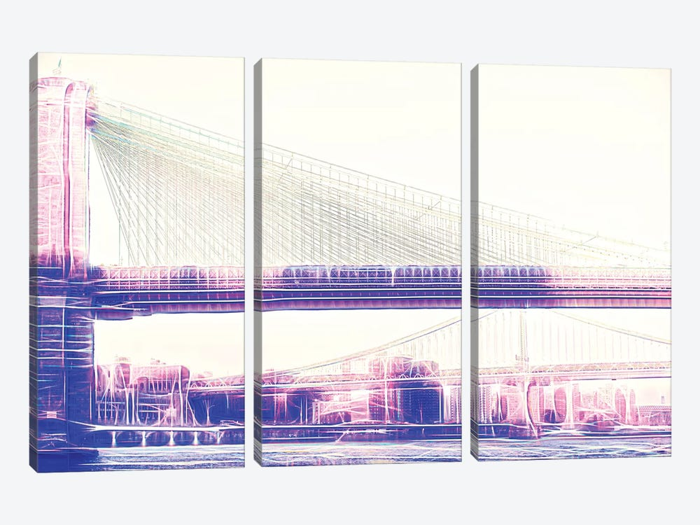 Brooklyn Bridge by Philippe Hugonnard 3-piece Canvas Art Print