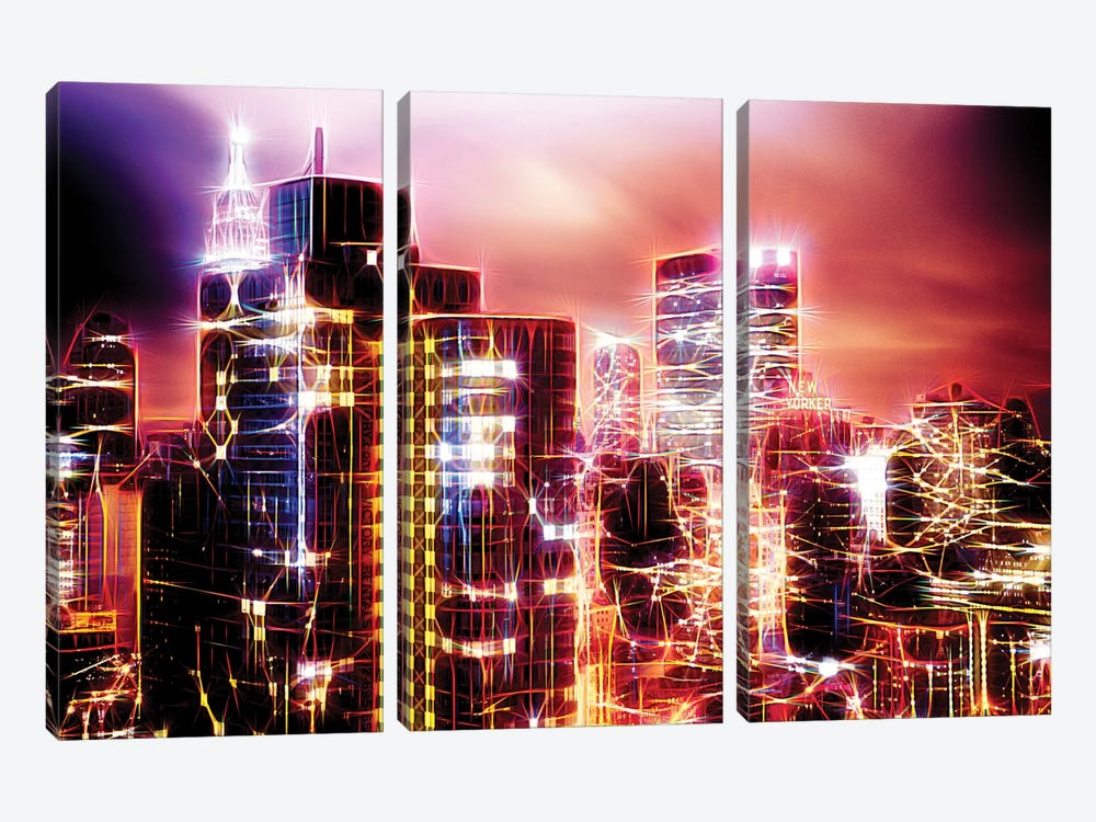City Of Light by Philippe Hugonnard 3-piece Canvas Art