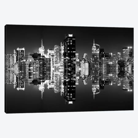 Manhattan Skyline - BW Canvas Print #PHD3} by Philippe Hugonnard Canvas Wall Art