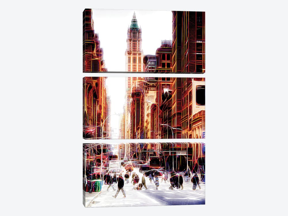 City On The Move by Philippe Hugonnard 3-piece Canvas Art Print