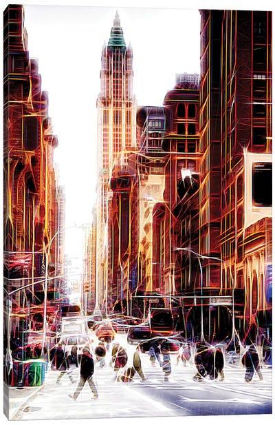 City On The Move Canvas Art Print