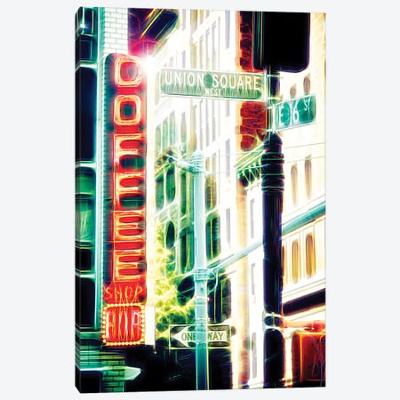 Coffee Shop Canvas Print #PHD401} by Philippe Hugonnard Canvas Wall Art