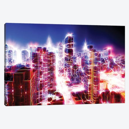 Dazzling NYC Canvas Print #PHD403} by Philippe Hugonnard Canvas Artwork