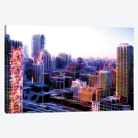 Digital Buildings Canvas Print #PHD404} by Philippe Hugonnard Canvas Print