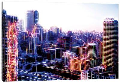 Digital Buildings Canvas Art Print