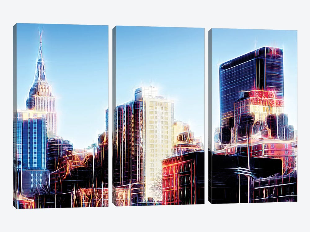 Dream City by Philippe Hugonnard 3-piece Canvas Artwork