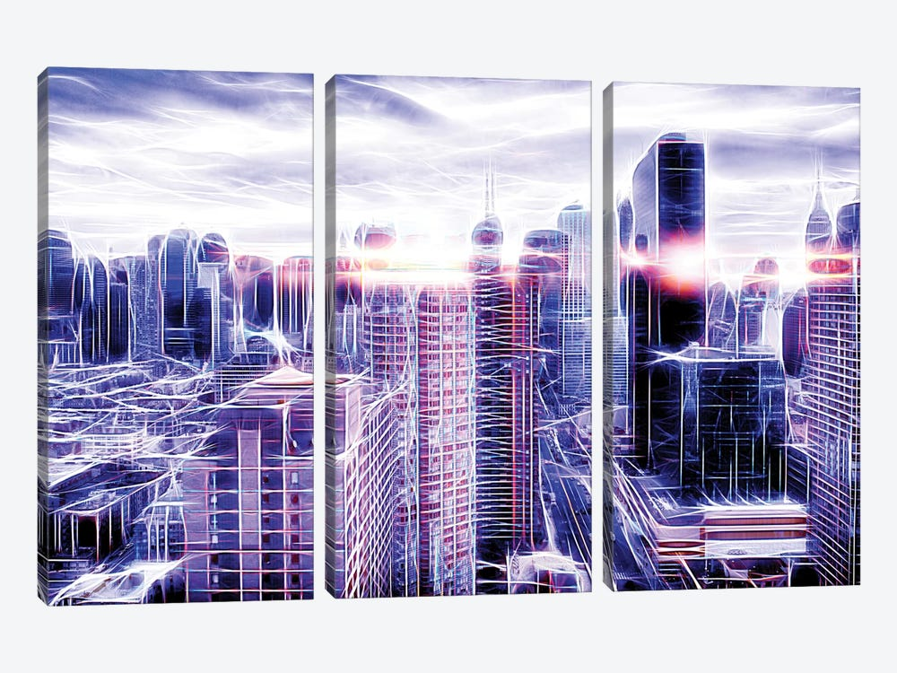 Electric Cloud by Philippe Hugonnard 3-piece Canvas Print