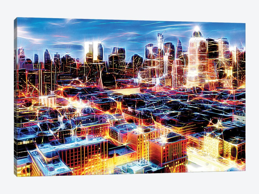Electric Storm At Night by Philippe Hugonnard 1-piece Canvas Art