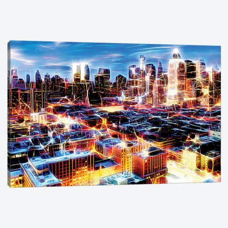 Electric Storm At Night Canvas Print #PHD407} by Philippe Hugonnard Canvas Print