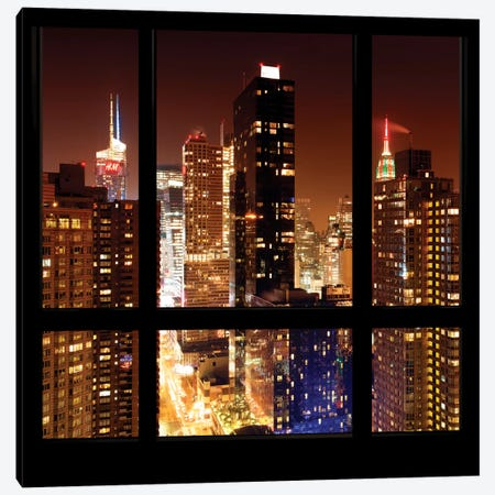 Manhattan - Window View Canvas Print #PHD40} by Philippe Hugonnard Canvas Artwork