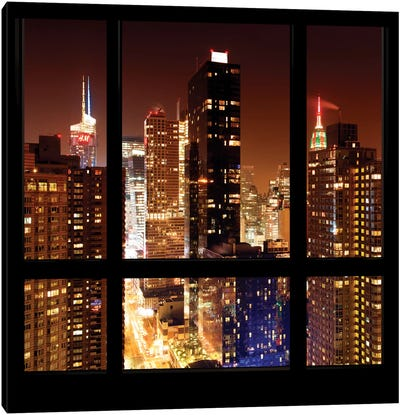 Manhattan - Window View Canvas Art Print