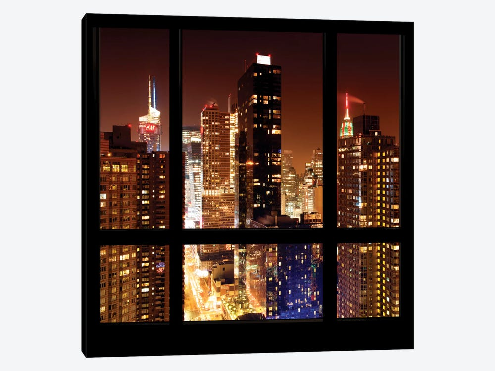 Manhattan - Window View by Philippe Hugonnard 1-piece Canvas Wall Art