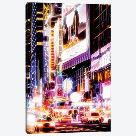 Flashing Neon Lights Canvas Print #PHD411} by Philippe Hugonnard Art Print