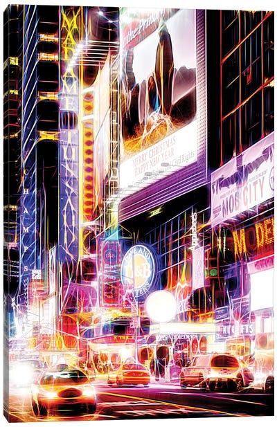 Flashing Neon Lights Canvas Art Print