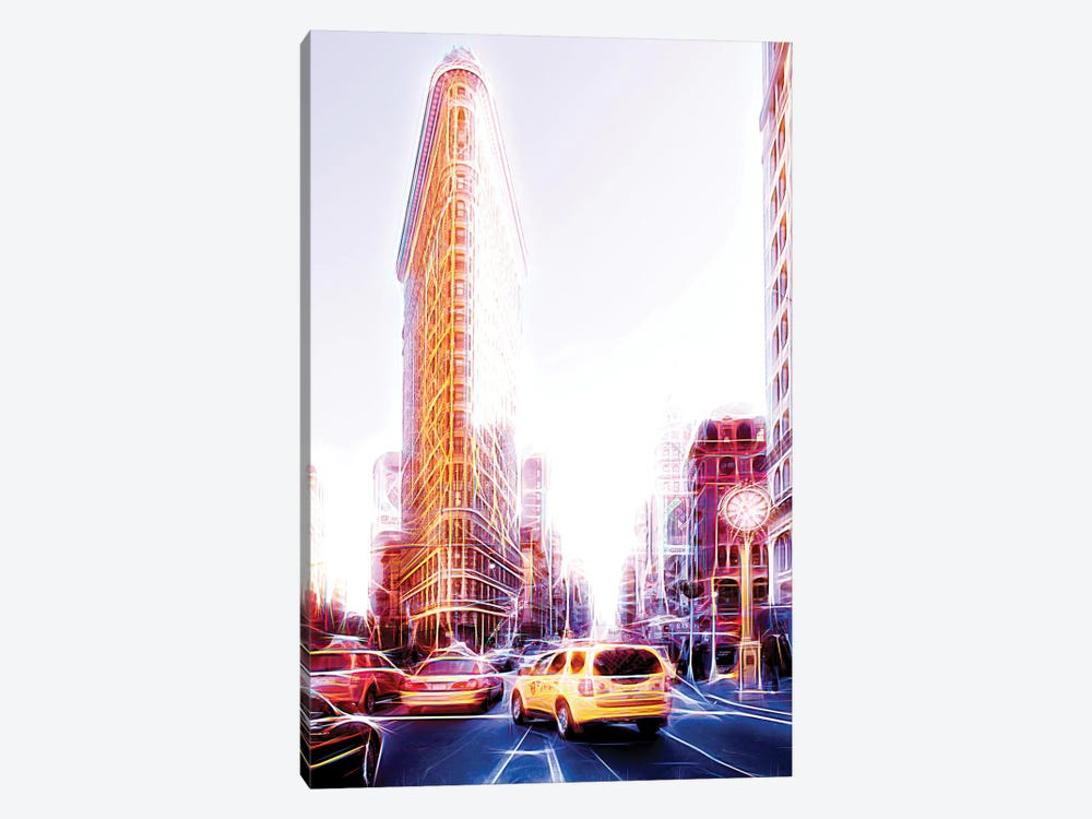 Flatiron Taxis by Philippe Hugonnard 1-piece Canvas Art