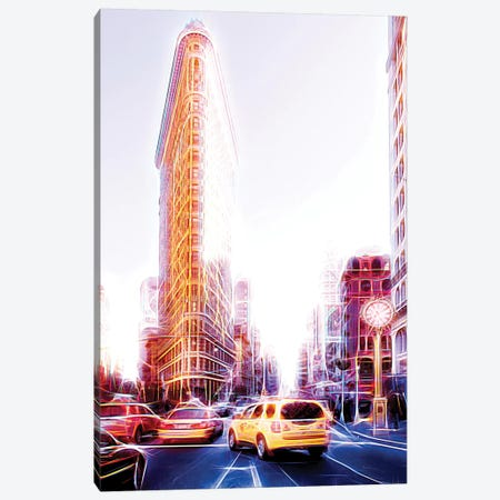 Flatiron Taxis Canvas Print #PHD412} by Philippe Hugonnard Canvas Print