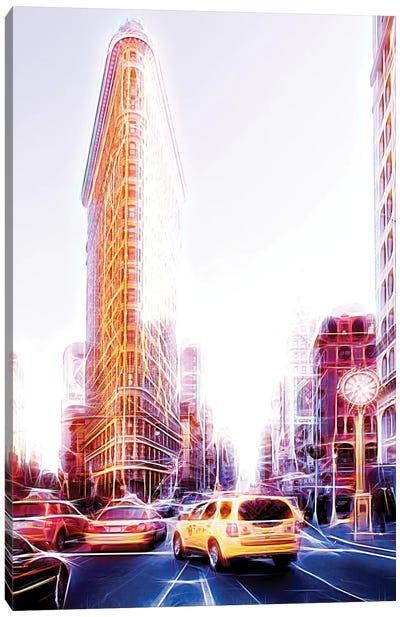 Flatiron Taxis Canvas Art Print