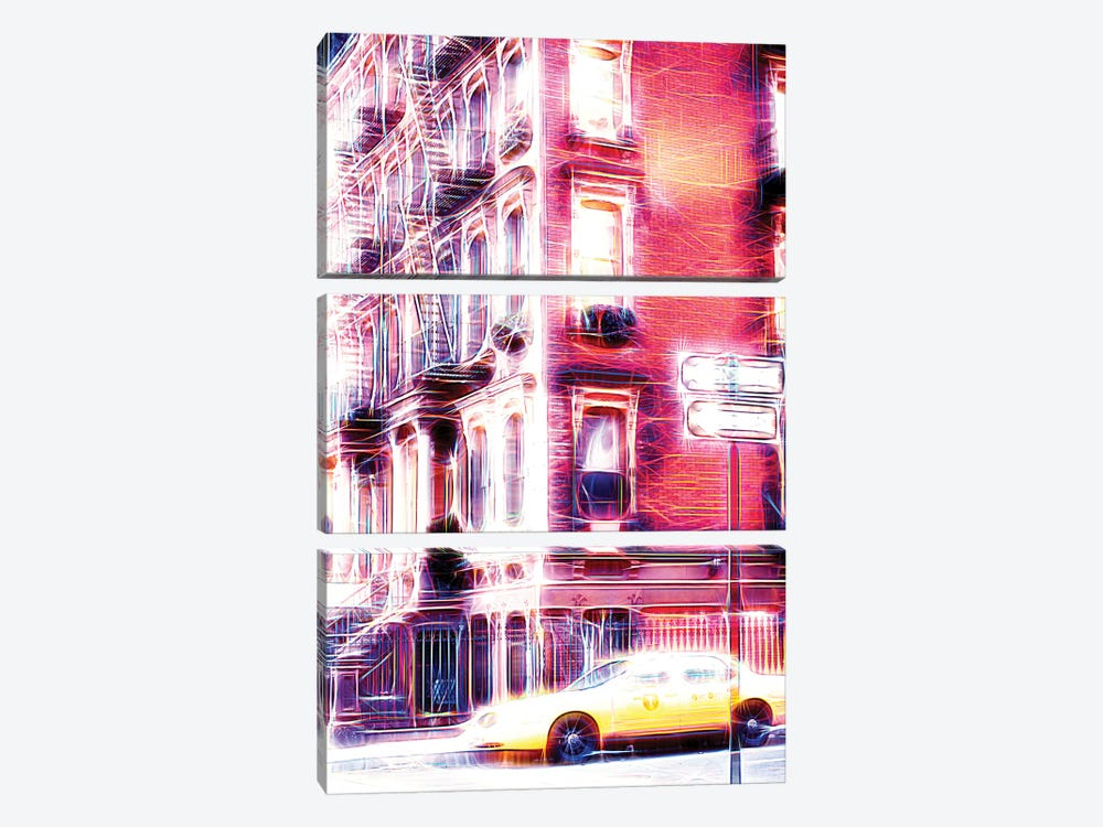Harlem Electric by Philippe Hugonnard 3-piece Canvas Art Print
