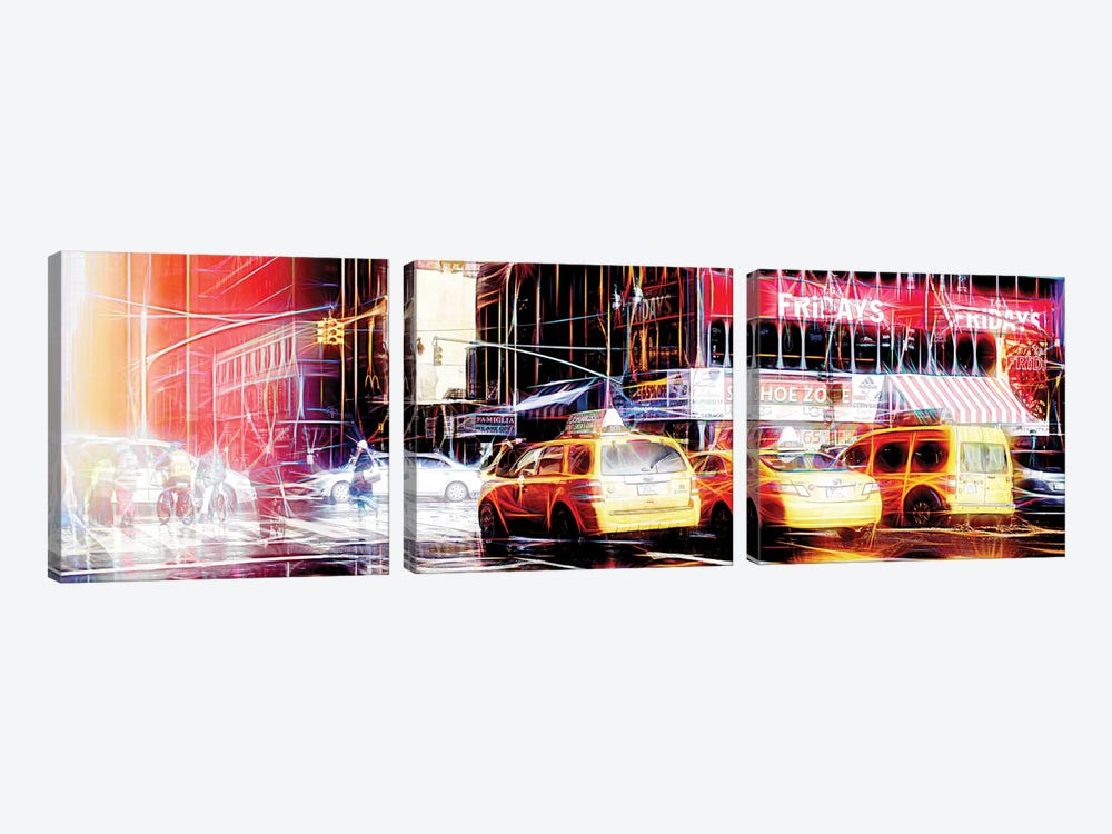 Light Reflection by Philippe Hugonnard 3-piece Canvas Wall Art
