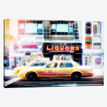 Liquors Taxi Canvas Print #PHD417} by Philippe Hugonnard Canvas Art