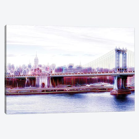 Manhattan Bridge Canvas Print #PHD418} by Philippe Hugonnard Art Print