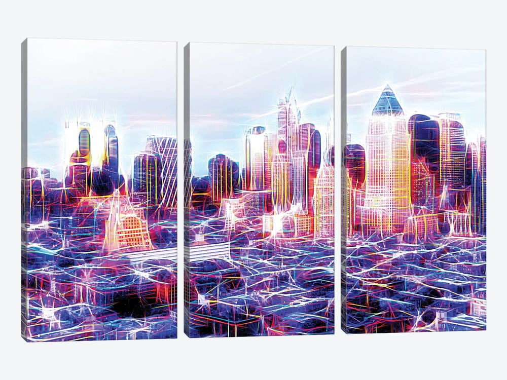 Midtown Electric by Philippe Hugonnard 3-piece Canvas Print