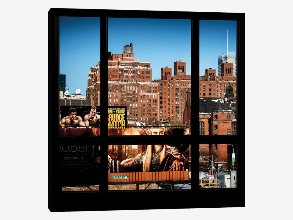 Manhattan Buildings - Window View by Philippe Hugonnard 1-piece Art Print