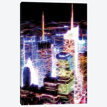 Night Electric Blue Canvas Print #PHD422} by Philippe Hugonnard Canvas Art