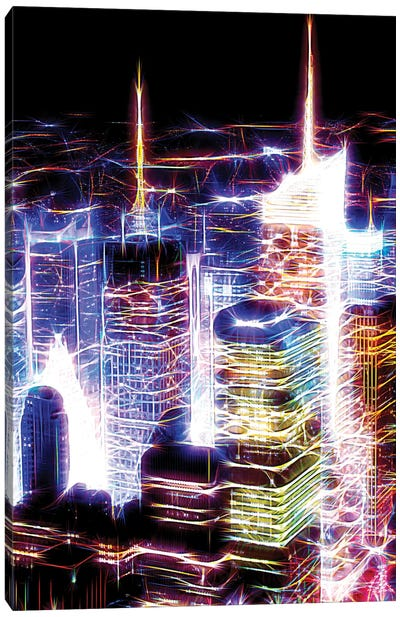Night Electric Blue Canvas Art Print