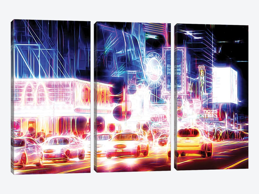 Night Sparkling by Philippe Hugonnard 3-piece Canvas Art