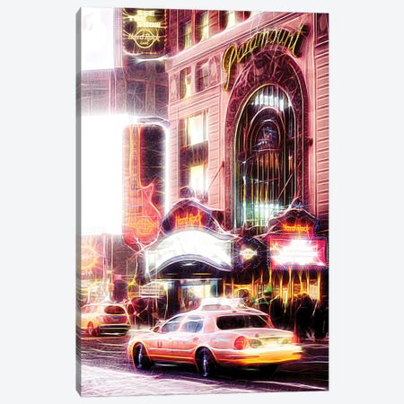 Night Taxi Canvas Print #PHD425} by Philippe Hugonnard Canvas Art Print