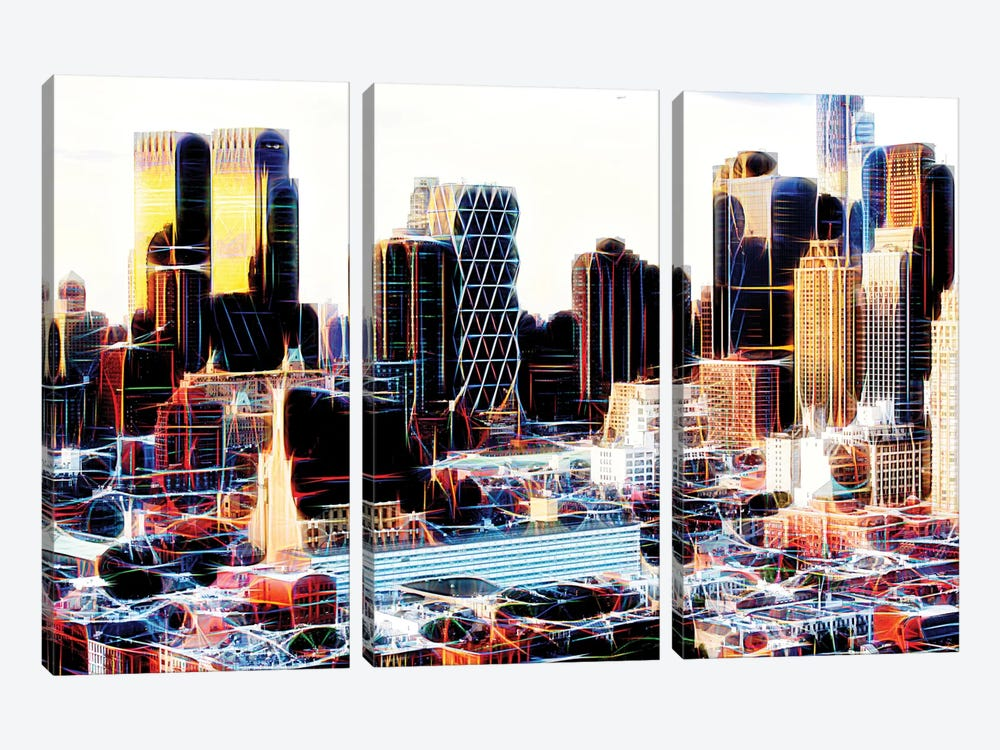 NY Midtown by Philippe Hugonnard 3-piece Canvas Print