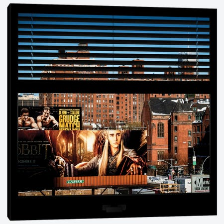 New York Buildings - Window View Canvas Print #PHD42} by Philippe Hugonnard Canvas Art