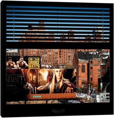 New York Buildings - Window View Canvas Print #PHD42