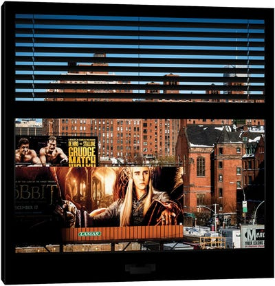 New York Buildings - Window View Canvas Art Print
