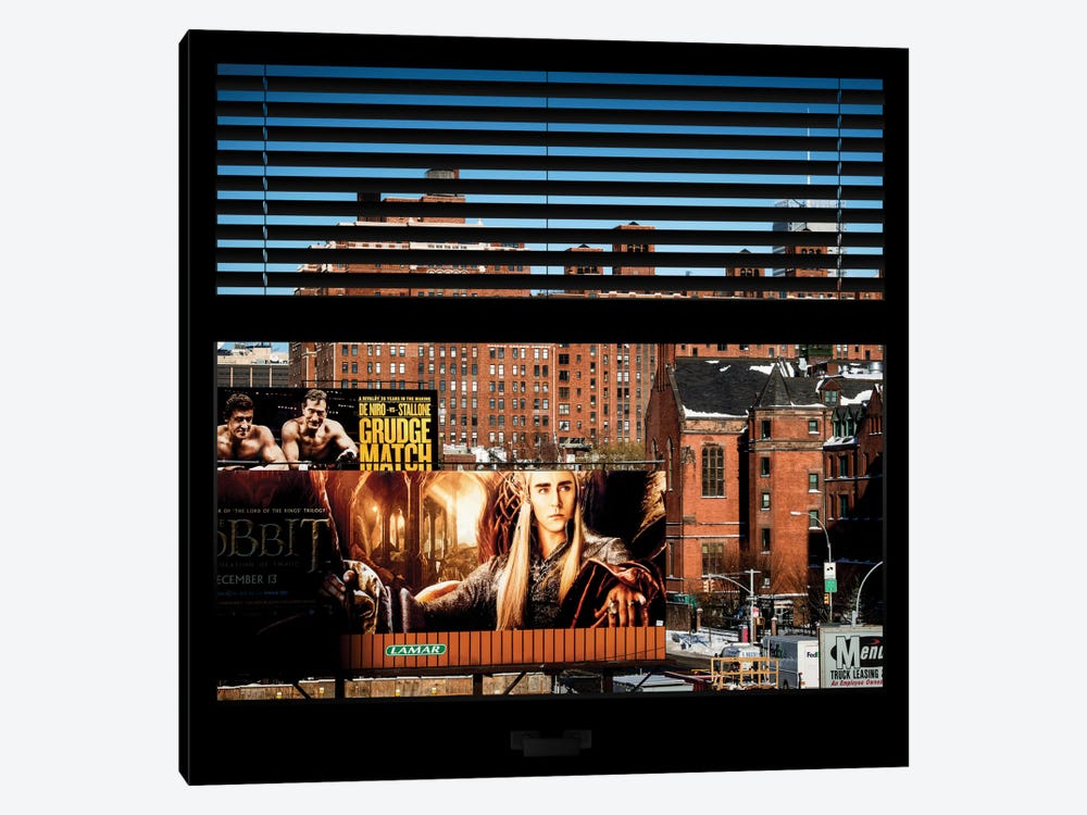New York Buildings - Window View by Philippe Hugonnard 1-piece Canvas Artwork