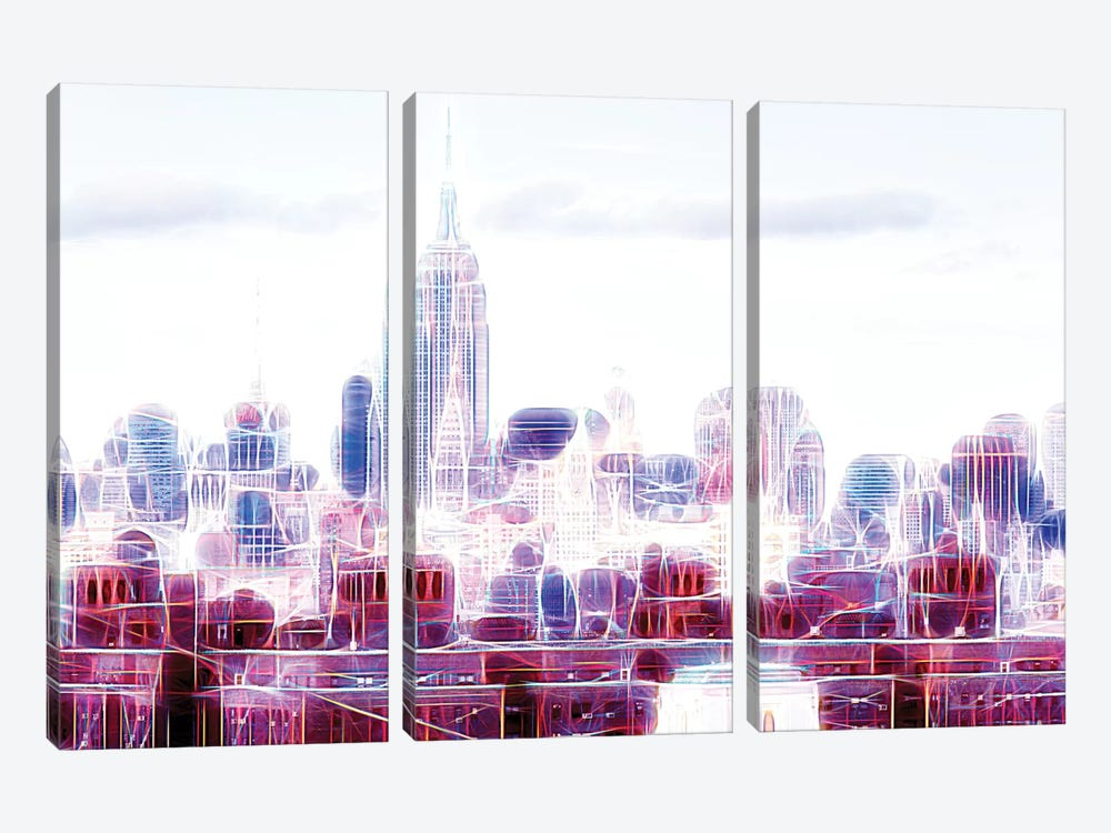 Pure Vision by Philippe Hugonnard 3-piece Canvas Artwork