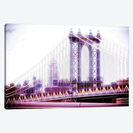 Purple Bridge Canvas Print #PHD433} by Philippe Hugonnard Canvas Art Print