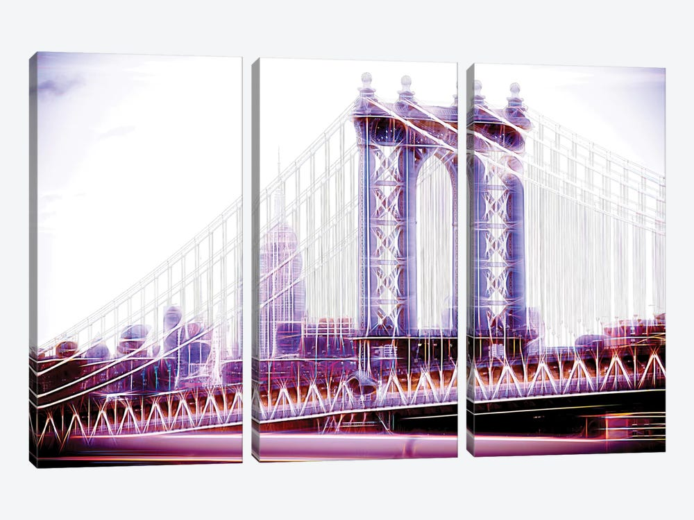 Purple Bridge by Philippe Hugonnard 3-piece Canvas Print