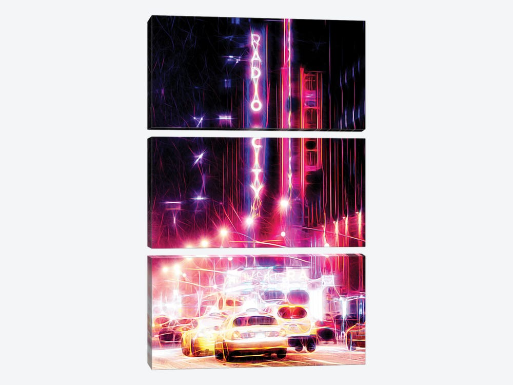 Radio City by Philippe Hugonnard 3-piece Canvas Wall Art
