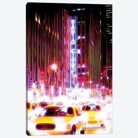 Radio City Taxis Canvas Print #PHD435} by Philippe Hugonnard Canvas Wall Art