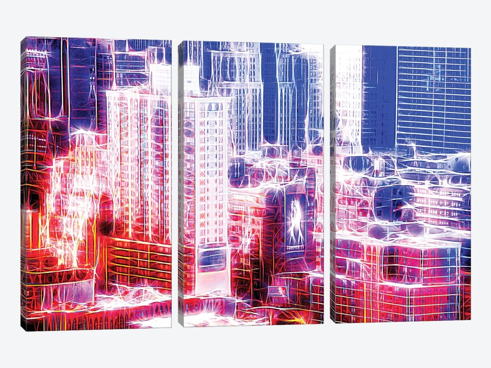 Red Electric by Philippe Hugonnard 3-piece Canvas Print
