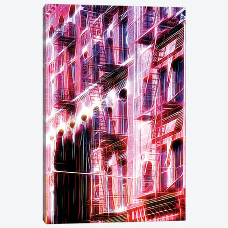 Red Facade Canvas Print #PHD440} by Philippe Hugonnard Canvas Wall Art