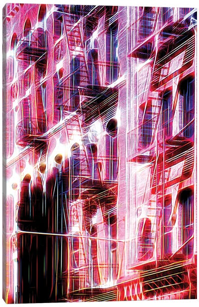 Red Facade Canvas Art Print