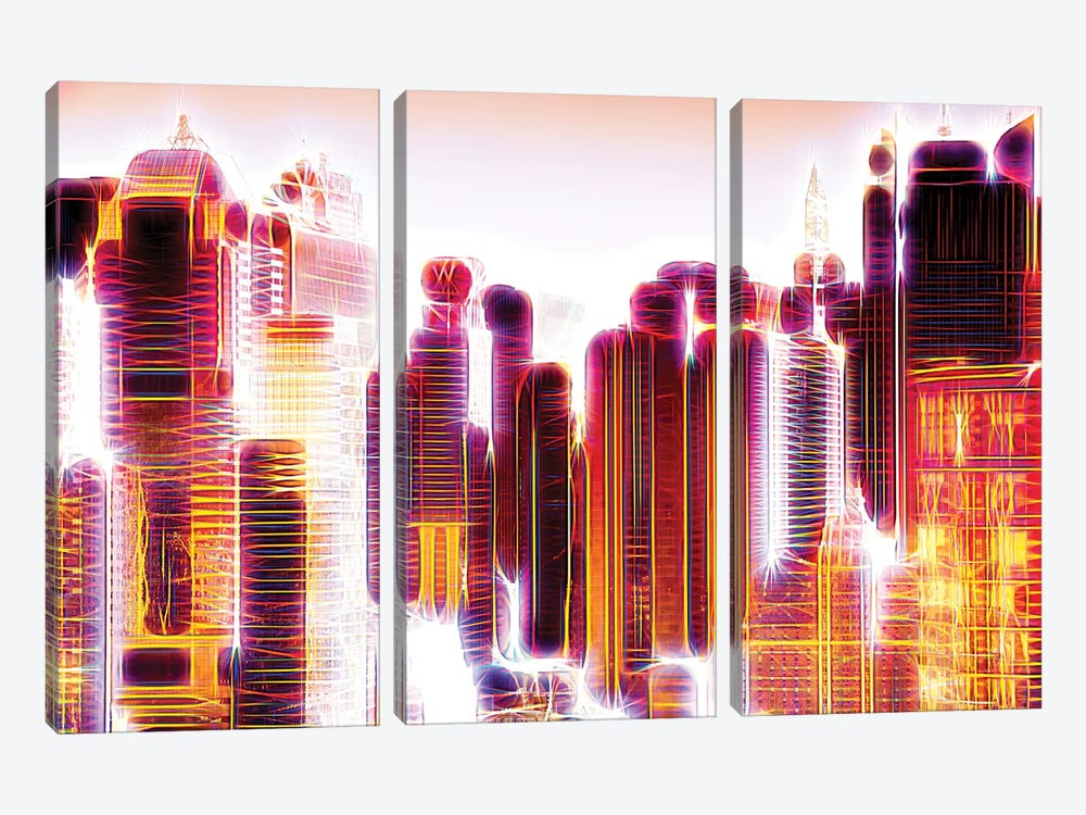 Red Lights I by Philippe Hugonnard 3-piece Canvas Artwork