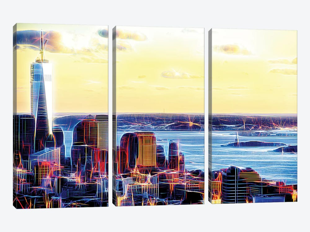 Seen From Above by Philippe Hugonnard 3-piece Canvas Art
