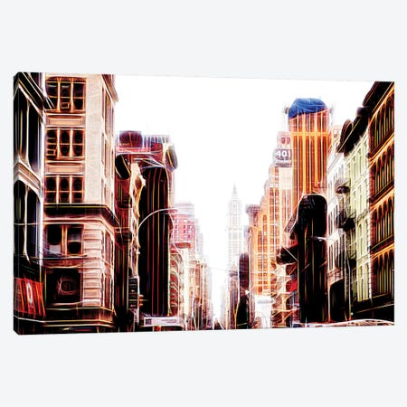 Sequence Of Buildings Canvas Print #PHD449} by Philippe Hugonnard Canvas Artwork