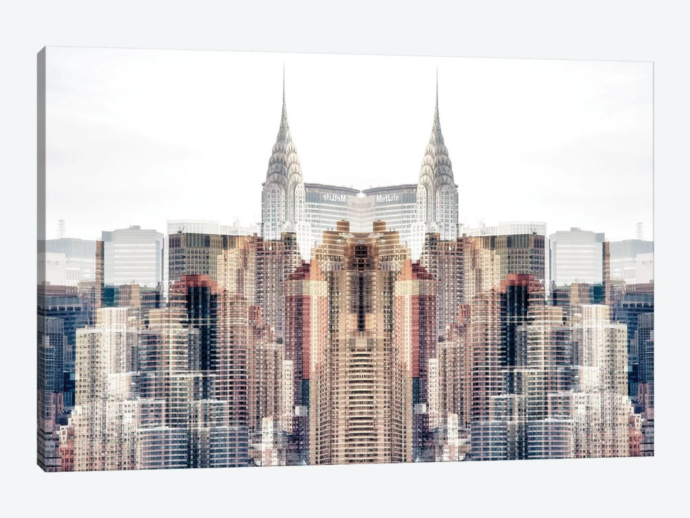 New York Reflection - Chrysler Building by Philippe Hugonnard 1-piece Canvas Artwork
