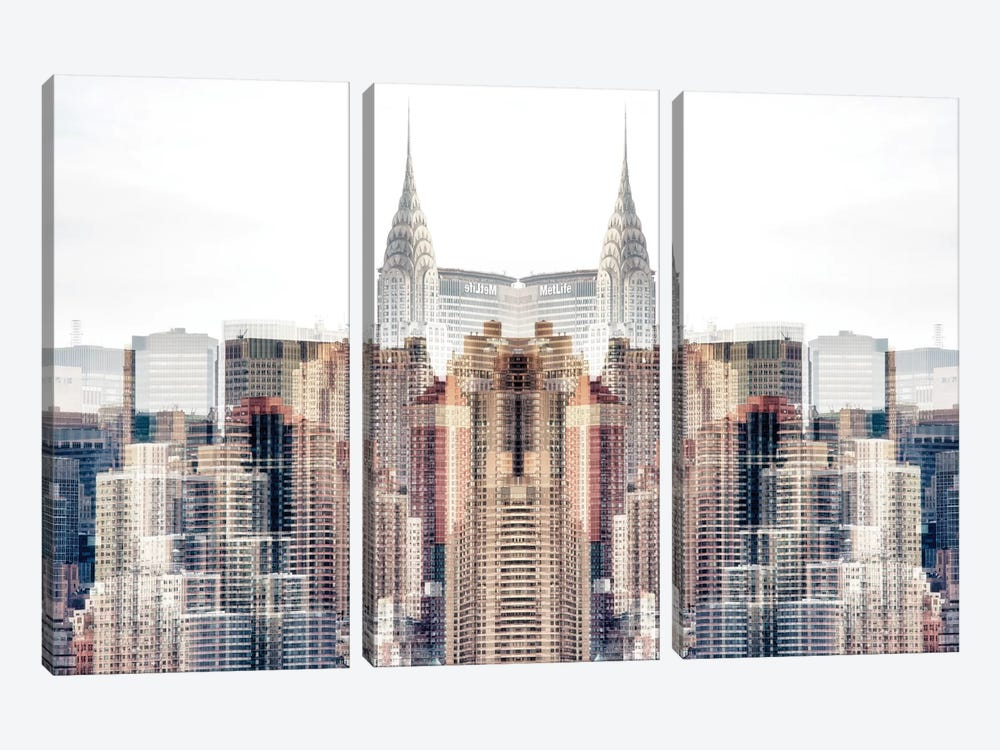 New York Reflection - Chrysler Building by Philippe Hugonnard 3-piece Canvas Artwork