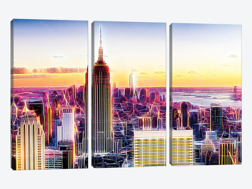 Sublimation I by Philippe Hugonnard 3-piece Canvas Art
